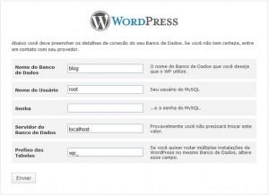 conexão banco wordpress