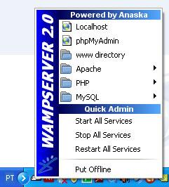 wamp server janela